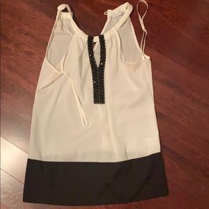 White and black stoned work tank size xs